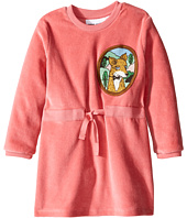 mini rodini - Fox Velour Dress (Infant/Toddler/Little Kids/Big Kids)