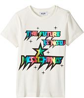 Moschino Kids - Short Sleeve 'The Future Is Now' Logo T-Shirt (Little Kids/Big Kids)