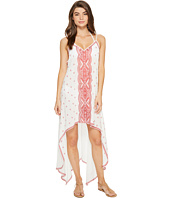 Nicole Miller - La Plage By Nicole Miller Embroidered Beach Scarf Dress/Cover-Up