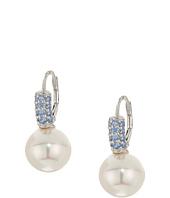 Majorica - 10mm Pearl Blue CZ Sterling Silver Earrings