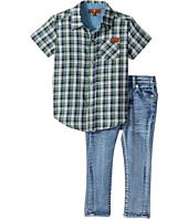 7 For All Mankind Kids - Two-Piece Woven Shirt and Jeans Set (Infant)