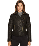 Cole Haan - Diamond Quilted Moto w/ Exposed Zippers