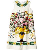 Dolce & Gabbana Kids - Caltagirone Vase Print Interlock Dress (Big Kids)