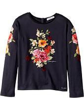 Dolce & Gabbana Kids - Back to School Floral Long Sleeve T-Shirt (Toddler/Little Kids)