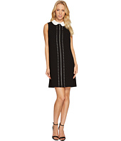 CeCe - Sleeveless Eyelet Embroidered Collared Dress