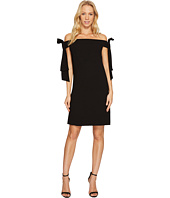 CeCe - Bow Tie Off Shoulder Crepe Sheath Dress