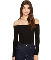 Only Hearts - Wide Wale Rib Off Shoulder Bodysuit