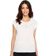Ivanka Trump - Cotton Blend Woven Embroidered Blouse
