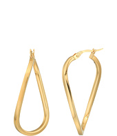 Roberto Coin - Twist Hoop Square Tube Earrings