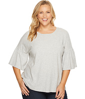 TWO by Vince Camuto - Plus Size Relaxed Bell Sleeve Cotton Slub Tee