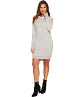 Tribal - Long Sleeve Hooded Knee Length Dress