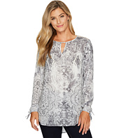 Tribal - Long Sleeve Printed Tunic w/ Laser Cut Combo