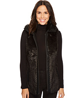 Tribal - Zigzag Faux Fur Vest w/ Pockets