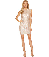 Aidan Mattox - Raglan Cap Sleeve Sequin Lace Sheath Dress