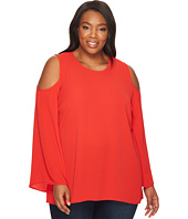 Vince Camuto Specialty Size - Plus Size Bell Sleeve Cold-Shoulder Blouse