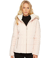 Calvin Klein - Puffer Short with Detachable Fur Trimmed Hood