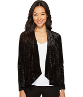Vince Camuto Specialty Size - Petite Drape Collar Open Front Crushed Velvet Jacket