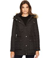 Calvin Klein - Quilted Jacket with Fur Trimmed Hood