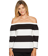 Vince Camuto - Long Sleeve Camden Bold Stripe Off Shoulder Blouse