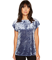 Vince Camuto - Extend Shoulder Knit Crushed Velvet Tee