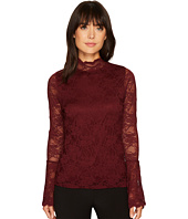 Vince Camuto - Bell Sleeve Mock Neck Stretch Lace Top