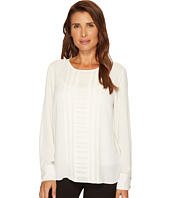 Vince Camuto - Long Sleeve Blouse w/ Pintuck Pleat Detail