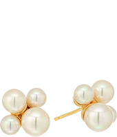 Majorica - Pearl Cluster Gold Plated Bubble Earrings