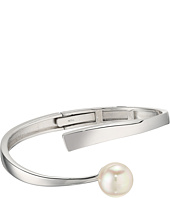 Majorica - 12mm Round Sterling Silver Wave Bangle Bracelet