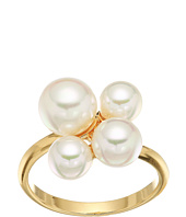 Majorica - White Round Pearl Cluster Gold-Plated
