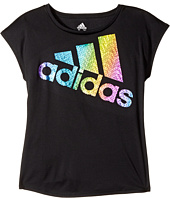 adidas Kids - Short Sleeve Just Shine Tee (Big Kids)