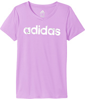 adidas Kids - Short Sleeve V-Neck Top (Big Kids)
