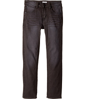 Hudson Kids - Jagger Fit Slim Straight Fit French Terry in Black Raw/Tonal (Toddler/Little Kids/Big Kids)