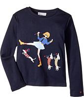 Sonia Rykiel Kids - Long Sleeve T-Shirt w/ Rykiel Girl & Dogs (Big Kids)