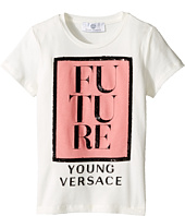Versace Kids - Short Sleeve 'Future' Logo T-Shirt (Toddler/Little Kids)