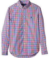 Polo Ralph Lauren Kids - Plaid Cotton Poplin Top (Big Kids)