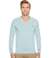 Lacoste - V-Neck Cotton Jersey Sweater