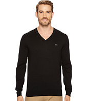 Lacoste - Cotton Jersey V-Neck Sweater