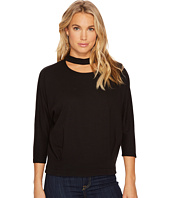 HEATHER - Maddy Peekaboo Neck Pullover