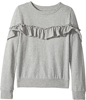 Hudson Kids - Heather Pullover Ruffle Sweatshirt (Big Kids)