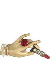 Marc Jacobs - Charms Hand with Lipstick Big Brooch