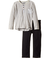 Hudson Kids - Two-Piece Striped Jersey Top Stretch Twill Pants (Toddler)