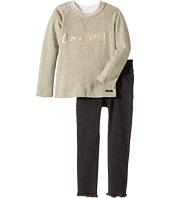 Hudson Kids - Two-Piece French Terry Pullover Stretch Denim Pants (Toddler)