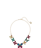 Betsey Johnson - Multicolor Stone Butterfly Necklace