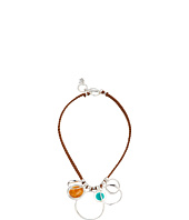 Robert Lee Morris - Silver Sculptural and Colorful Frontal Necklace