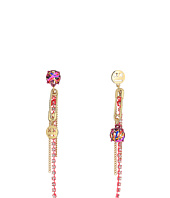 Betsey Johnson - Gold and Pink Chain Drop Earrings