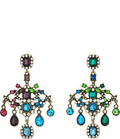 Betsey Johnson - Multicolor and Gold Chandelier Clip Earrings