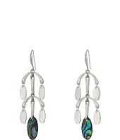 Robert Lee Morris - Silver and Abalone Chandelier Earrings
