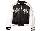 Satin Bomber with Chest Embroidery (Little Kids/Big Kids)