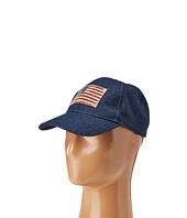 Steve Madden - Denim Baseball Cap w/ Faded American Flag