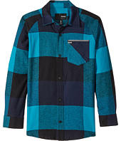 Hurley Kids - Flannel Long Sleeve Raglan Top (Big Kids)